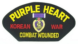 Purple Heart Korean War Patches